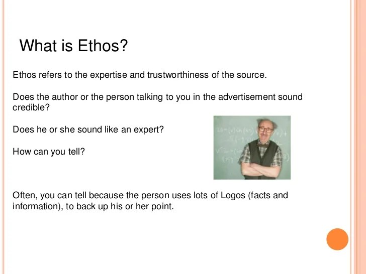 Identifying The Rhetorical Tools Of Ethos Logos