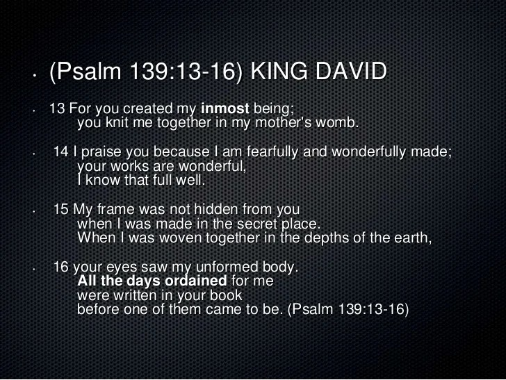 Image result for psalm 139 13-16