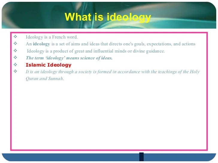 Ideology of pakistan and two nation theory