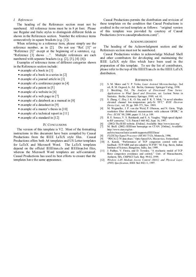 Sample IEEE Paper Format
