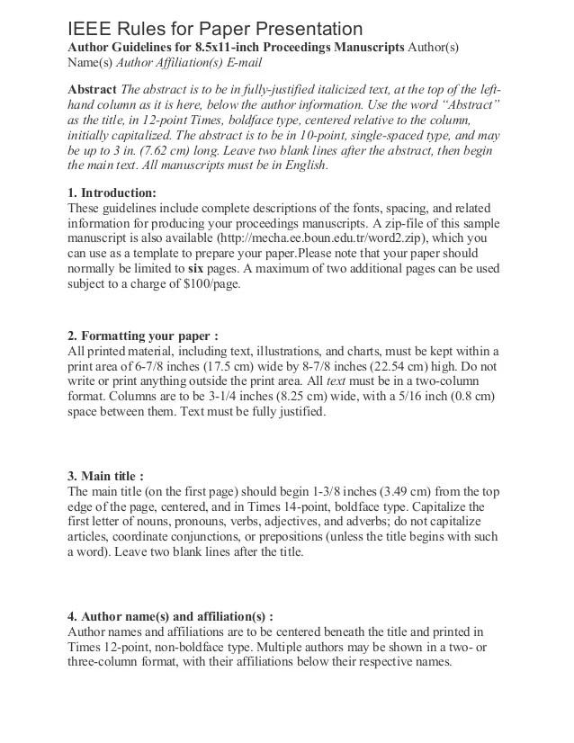 Paper Presentation Format Hospi Noiseworks Co