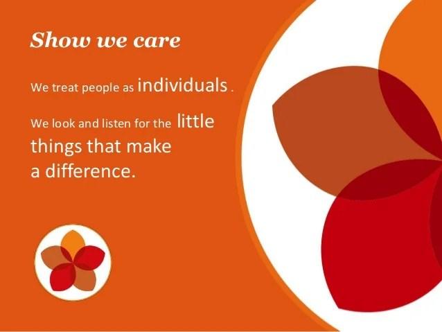 Show we care We treat