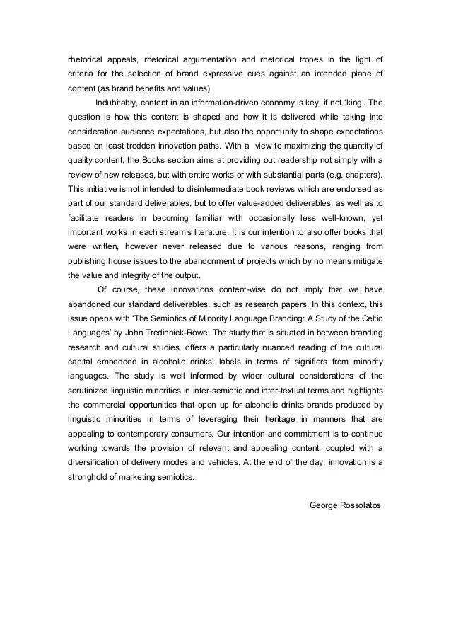 INTERNATIONAL JOURNAL OF MARKETING SEMIOTICS VOL V