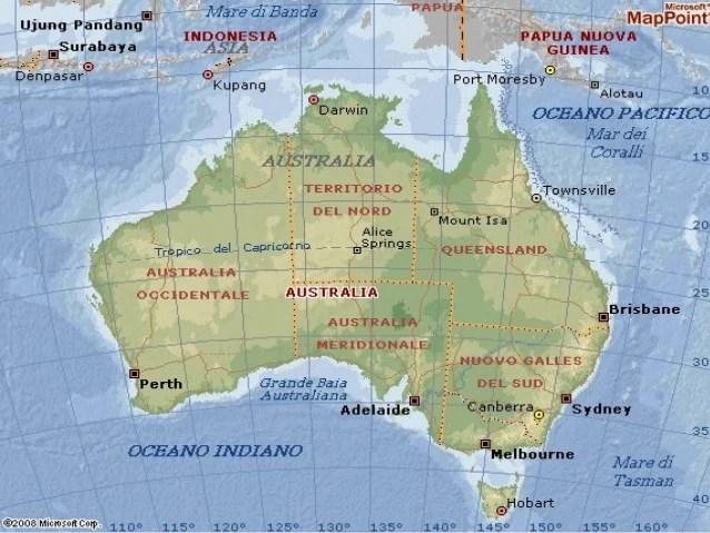 Australia Cartina Geografica.L Australia Si E Spostata Il Notiziario