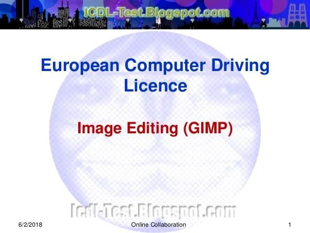 icdl image editing gimp