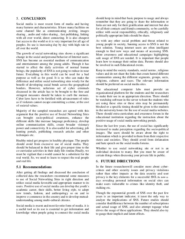 Survey Paper Social Networking And Its Impact On Youth Culture Com