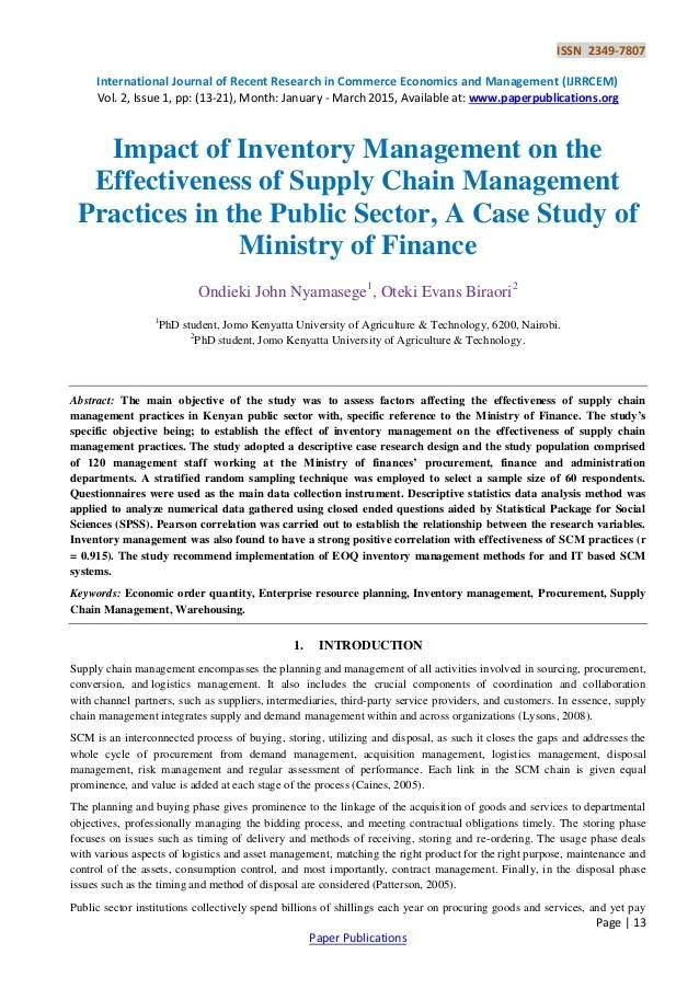 Problems In Inventory Management Case Study Custom Paper Help