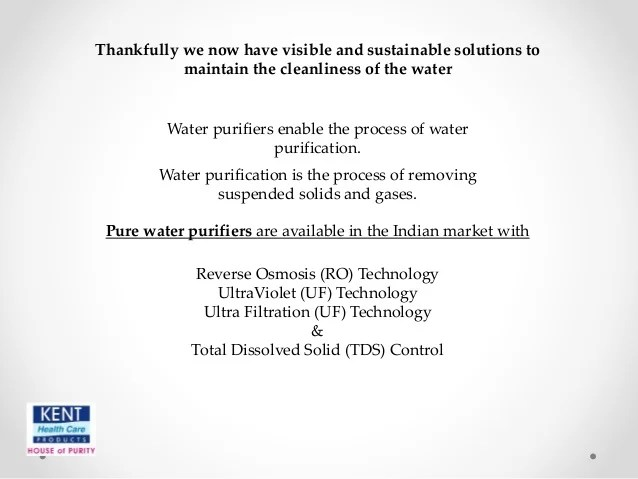 Importance To Have Clean And Pure Source Of Drinking Water