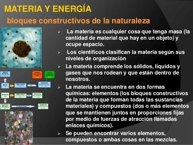 Importancia de la energia y de la materia