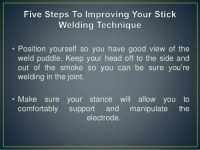 Improving your SMAW welding technique