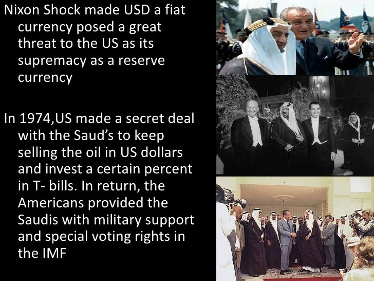Image result for nixon and kissinger create the petro dollar