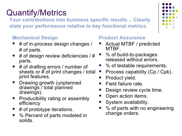 INCREASE YOUR RESUME CV VALUE THROUGH PERFORMANCE METRICS