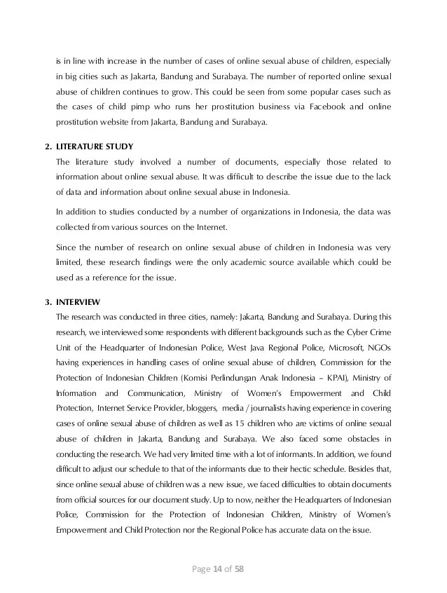 Mirc Bandung : bandung, Final, Report:, Scope, Magnitude, Online, Sexual, Abuse, Child…