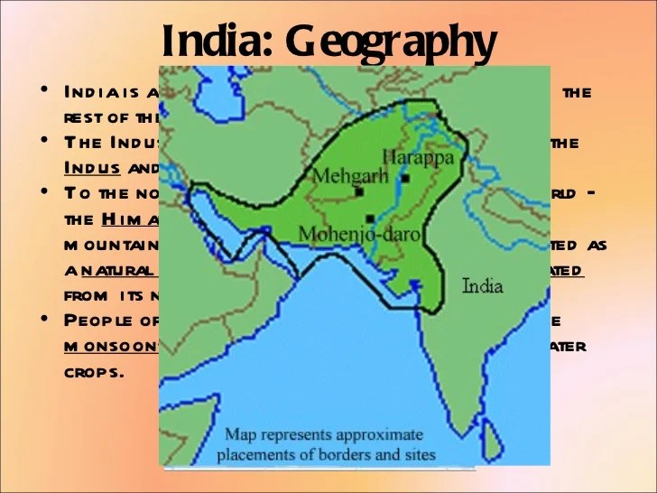 River India Ancient Indus Map