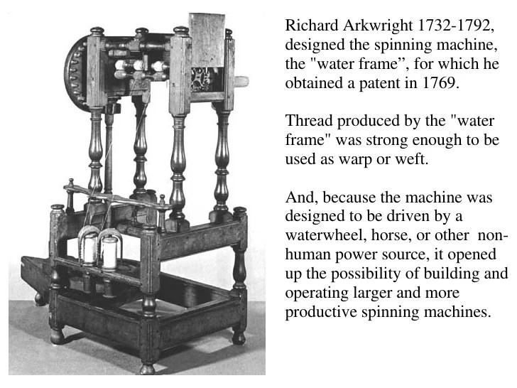 spinning frame richard arkwright | Frameswalls.org