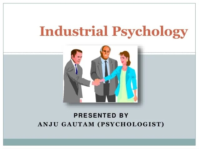 industrial psychologist