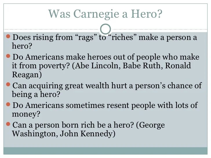 was andrew carnegie a hero dbq answers