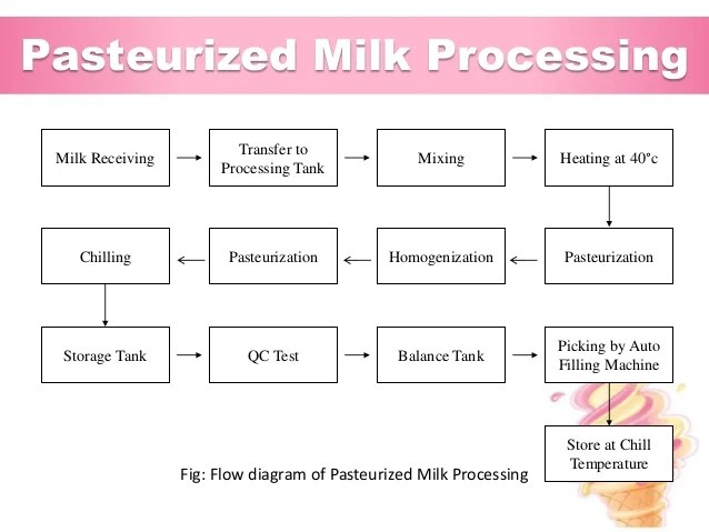 pasteurized milk processing fig flow diagram of also industrial training at abdul monem limited igloo ice cream and  rh slideshare