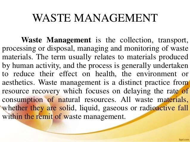 Food Industry Waste Management Ppt Industrial Waste ManagementA ...