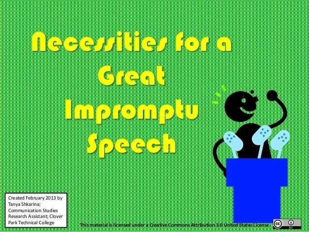 impromptu speech topics - DriverLayer Search Engine