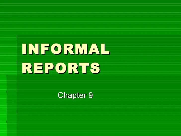 formal business report samples