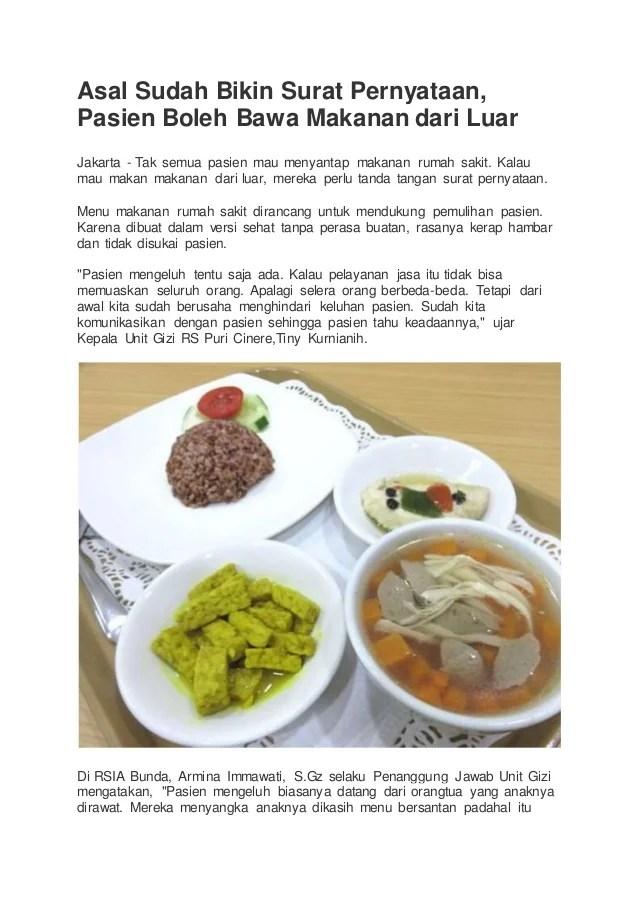 Makanan Rumah Sakit : makanan, rumah, sakit, Informasi, Edukasi