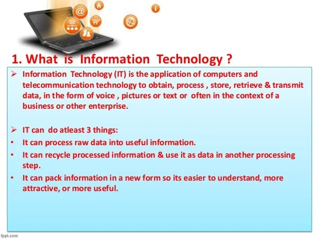 Role of Information technology in todays era