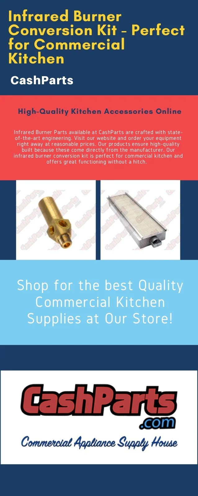 commercial kitchen supply confidential book infrared burner parts best quality supplies conversion kit perfect for cashparts available at