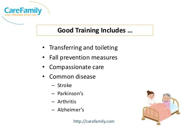 In Home Caregiver Training