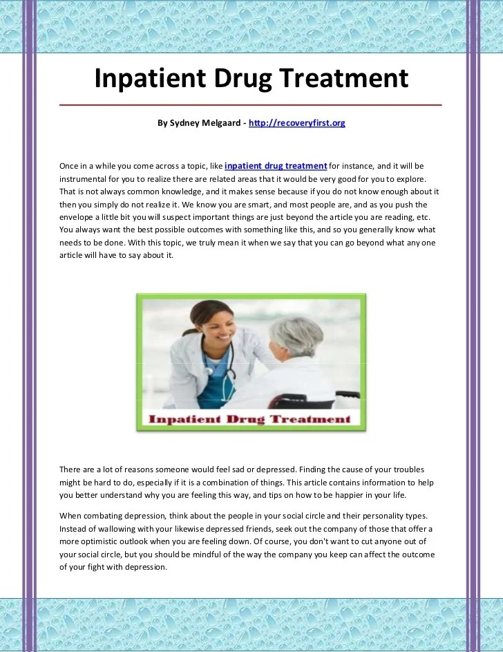 Inpatient Drug Treatment