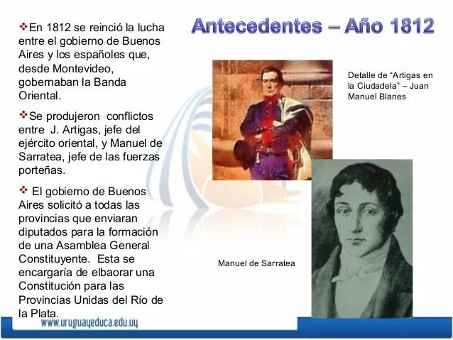 En 1812 se reinció la luchaentre el gobierno de BuenosAires y los españoles que,desde Montevideo,                        ...