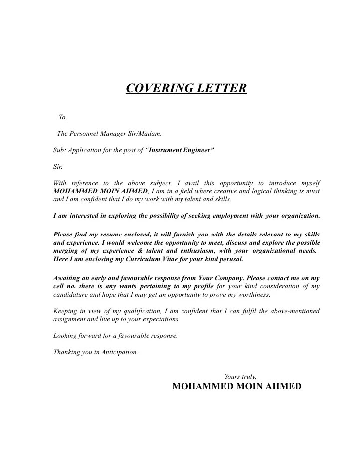 engineering cover letter templates - Yatay.horizonconsulting.co