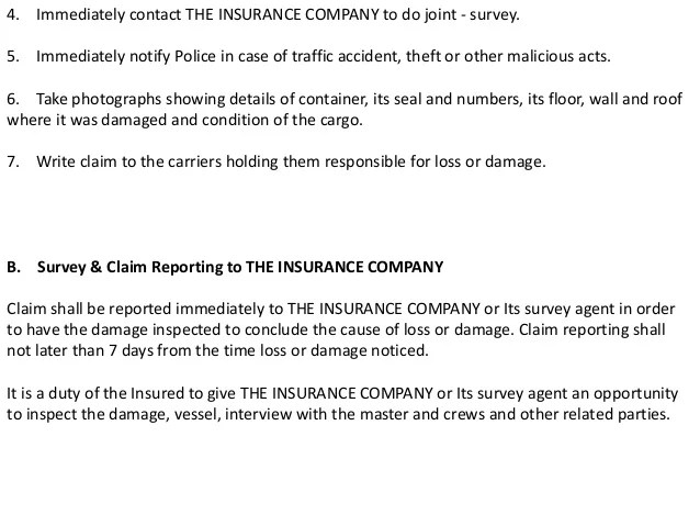 How To Write A Damage Report For Insurance