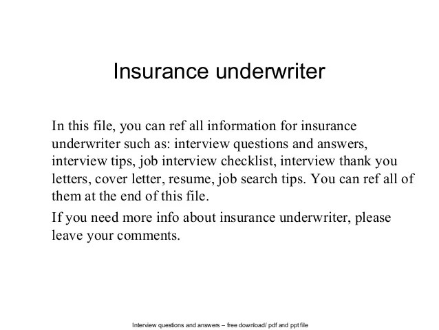 Cover letter insurance underwriter trainee Underwriter Trainee Cover Letter