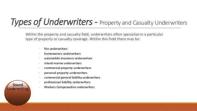 Field Underwriter Job Description