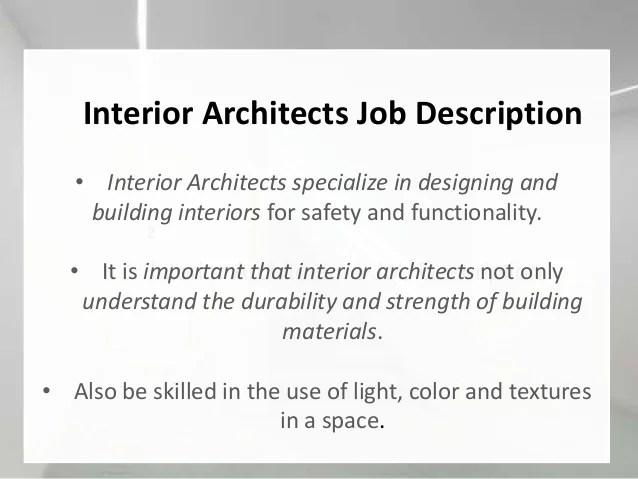 Job Description Of An Interior Designer