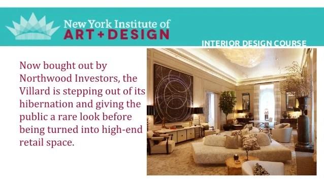 Interior Design Diploma Courses In New York