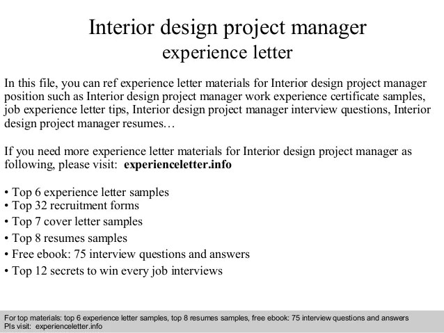 Nice Interior Design Project Manager Experience Letter 1 638 Jpg Cb 1408882410