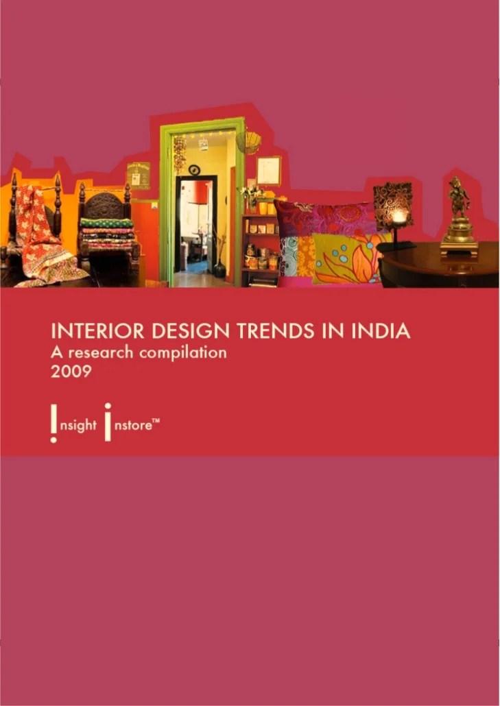 Interior Design Trends in India  A Preview