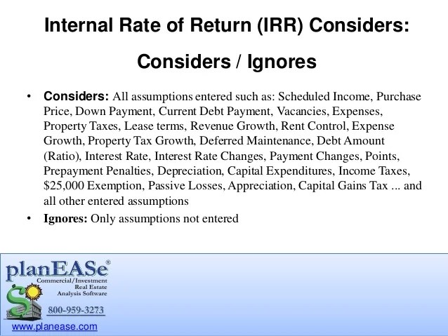 Internal Rate Of Return (IRR) For Commercial Real Estate