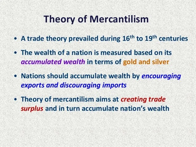 Image result for mercantilism summary