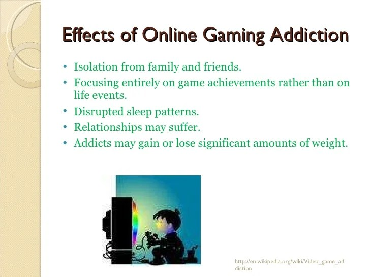 Research Paper About Video Game Addiction