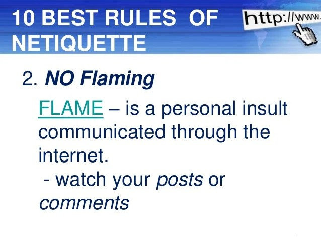 internet safety and netiquette