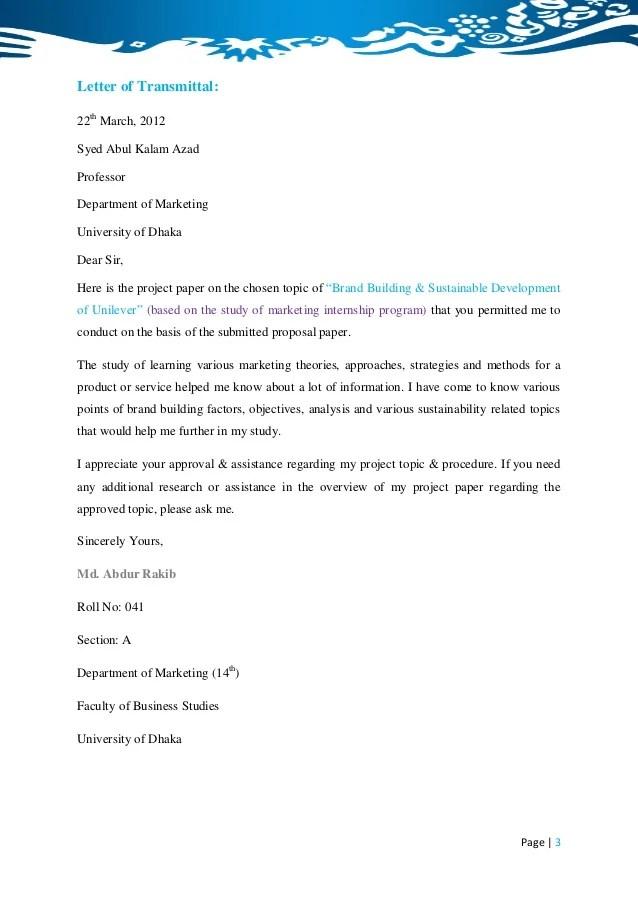 BBA Internship Report On Brand Building & Sustainable
