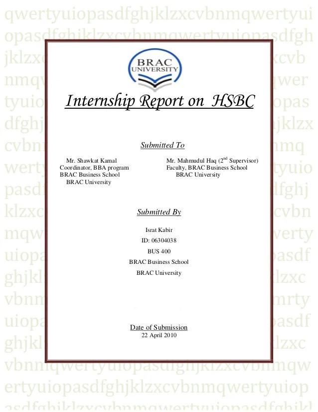 Marketing Internship Final Report | Examples Business Plan