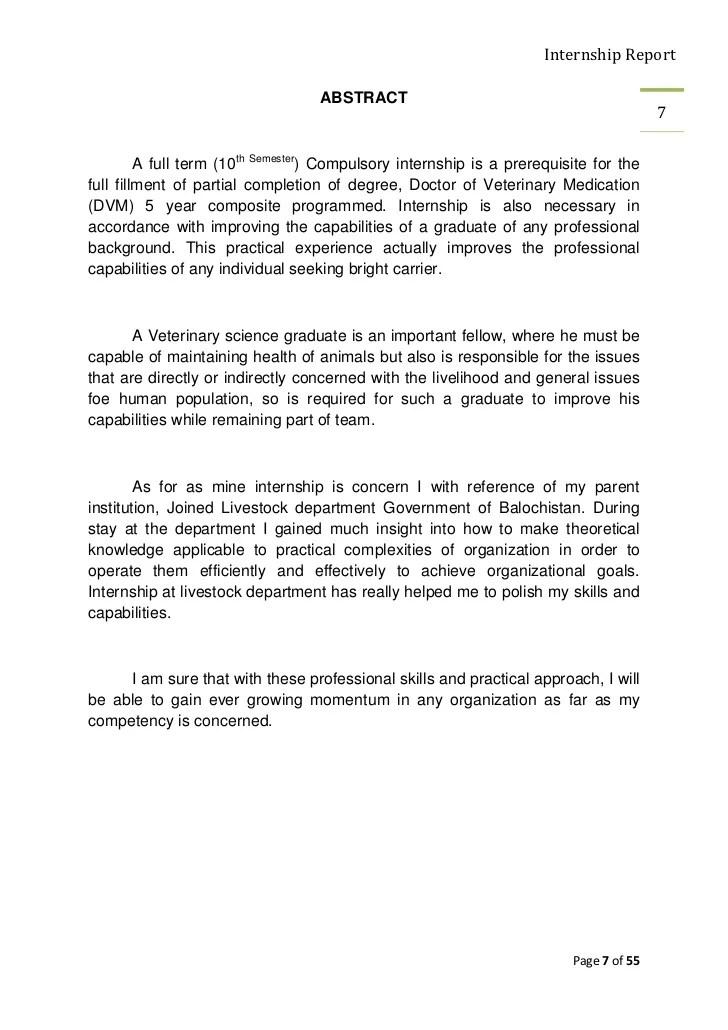 Internship Report Of Final Professin DVM