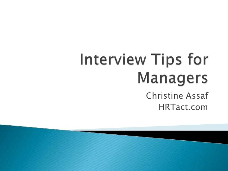 tips on interviewing