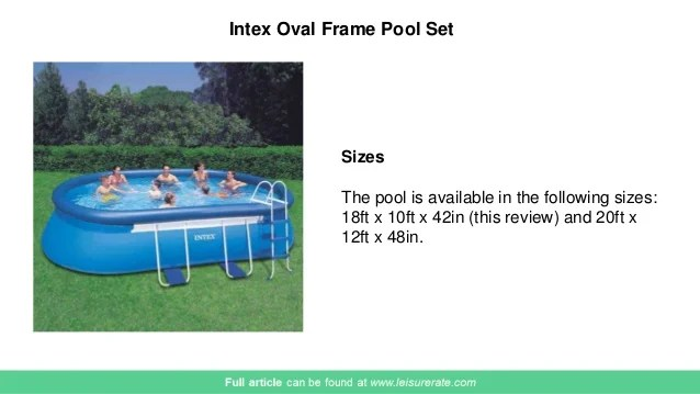 Intex Oval Frame Pool Reviews | Siteframes.co