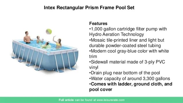 Intex Prism Frame Rectangular Pool Reviews | Siteframes.co