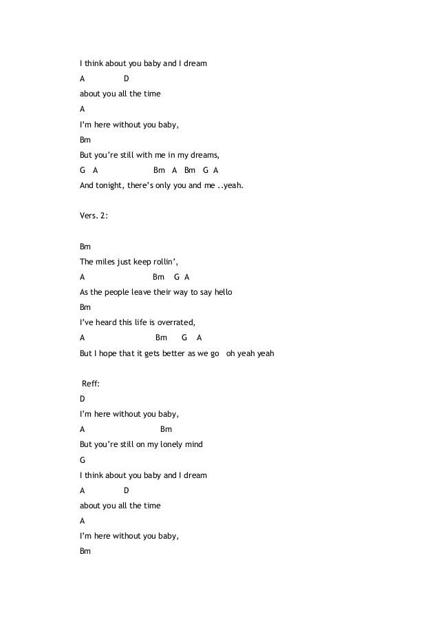Lirik Lagu Here Without You : lirik, without, Chord, Gitar, Without, Walls